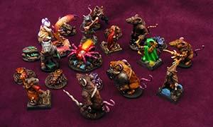 Maus und Mystik Miniaturen bemalt und umgebaut (Brettspiel)